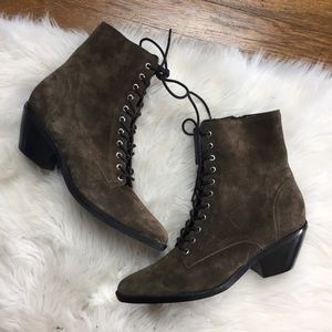 Marc Fisher Bowie Lace Up Pointed Toe Booties